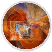 Incendiary Ammunition Abstract Round Beach Towel