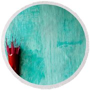 Incense 05 Round Beach Towel