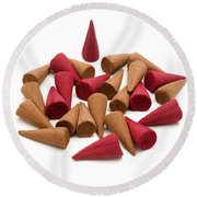 Incense Cones Round Beach Towel