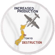 Increased Production - Tokyo Destruction Round Beach Towel