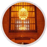 Incredible Art Nouveau Antique Grand Central Station - New York Round Beach Towel