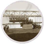 Incredible Hanging Railway  1900 Round Beach Towel