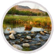 Independence Creek Preserve 2am-106000 Round Beach Towel