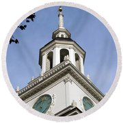 Independence Hall Bell Tower Round Beach Towel