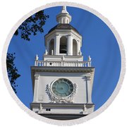 Independence Hall Round Beach Towel