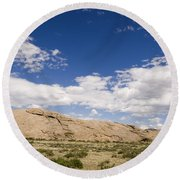 Independence Rock Wy Round Beach Towel