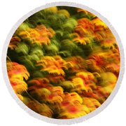 Indian Blanket Psychedelic Round Beach Towel