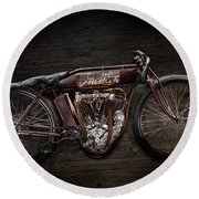 Indian Board Track Racer Round Beach Towel