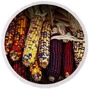 Indian Corn Round Beach Towel