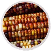Indian Corn Harvest Time Round Beach Towel