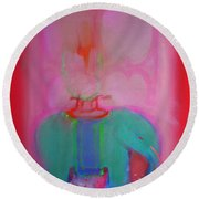 Indian Elephant Round Beach Towel