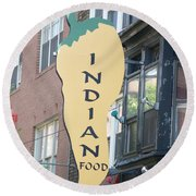 Indian Food Round Beach Towel