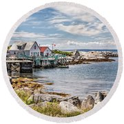 Indian Harbour Round Beach Towel