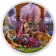 Indian Harmony Round Beach Towel