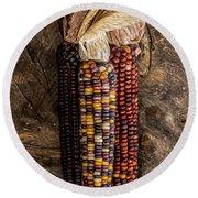 Indian Harvest Corn Round Beach Towel