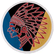 Indian Head Series 01 Round Beach Towel