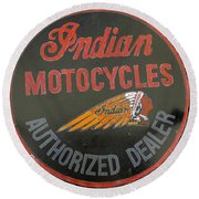 Indian Motocycle Dealer Round Beach Towel
