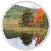 Indian Summer Acadia Park Round Beach Towel