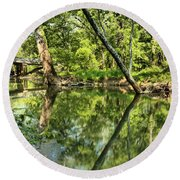 Indiana Reflections Round Beach Towel