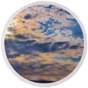 Indiana Sky Round Beach Towel