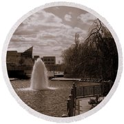 Indianapolis Canal Round Beach Towel
