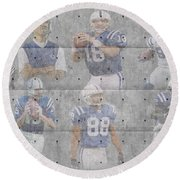 Indianapolis Colts Legends Round Beach Towel