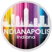 Indianapolis In 2 Round Beach Towel