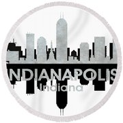 Indianapolis In 4 Round Beach Towel