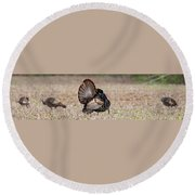Indifference Round Beach Towel