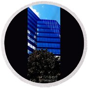 Indigo Tower Round Beach Towel