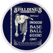 Indoor Base Ball Guide 1907 Round Beach Towel by American Sports Publishing