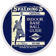 Indoor Base Ball Guide 1907 II Round Beach Towel by American Sports Publishing