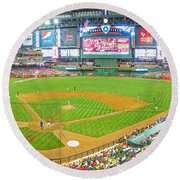 Indoors At Chase Field Round Beach Towel