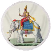 Indra Or Devendra, From Linde Round Beach Towel