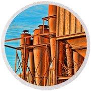 Industrial Detail Photoart Round Beach Towel