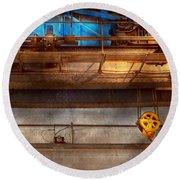 Industrial - The Gantry Crane Round Beach Towel
