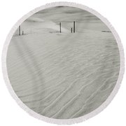 Inevitable Round Beach Towel by Laurie Search