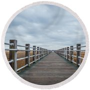 Infinite Boardwalk Round Beach Towel