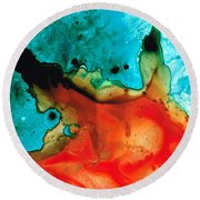 Infinite Color - Abstract Art By Sharon Cummings Round Beach Towel by Sharon Cummings