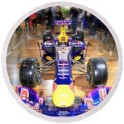 Infiniti Red Bull Formula One Racing Car  Round Beach Towel