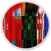 Infinity Jewel Mosaic  5 Round Beach Towel