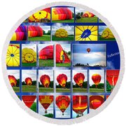 Inflation Hot Air Balloon Round Beach Towel