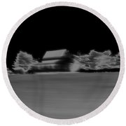 Infrared Abstract Minimalism Round Beach Towel