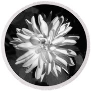 Infrared - Flower 03 Round Beach Towel