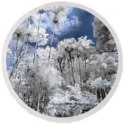 Infrared Pond And Reflections 2 Round Beach Towel