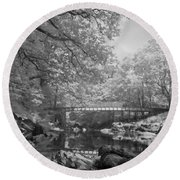 Infrared River Round Beach Towel