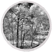 Infrared Stream Round Beach Towel