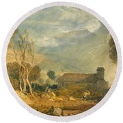 Ingleborough From Chapel-le-dale Round Beach Towel