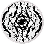 Ink Spot Round Beach Towel