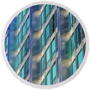 Inland Steel Building Round Beach Towel